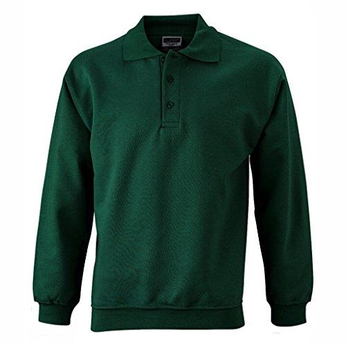 Sweat Polo amp; Vert Manches James shirt Foncé Nicholson Longues qSEU7