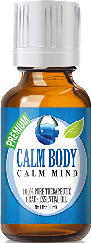 Calm Body, Calm Mind Blend 100% Pure, Best Therapeutic Grade Essential Oil - 30ml - Sweet Marjoram, Roman Chamomile, Ylang Ylang, Sandalwood, Vanilla, Lavender