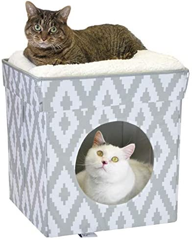 Kitty City Large Cat Bed Stackable Cat Cube Indoor Cat House Cat Condo White 6 27 Lbs Buy Online At Best Price In Uae Amazon Ae