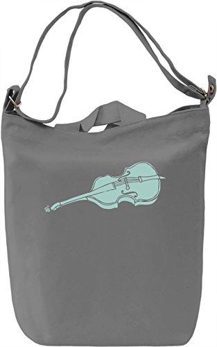 Violin Borsa Giornaliera Canvas Canvas Day Bag| 100% Premium Cotton Canvas| DTG Printing|