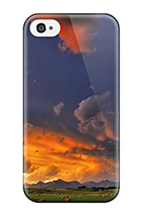 Hot RzSQyqa19901DXTHi Sunset Haybale Alberta Canada Digital Tpu Case Cover Compatible With Iphone 4/4s