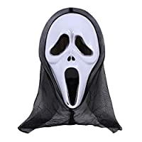 Huilier Halloween Mask Skull Ghost Scary Terror Scream Masquerade Party Cosplay Costume