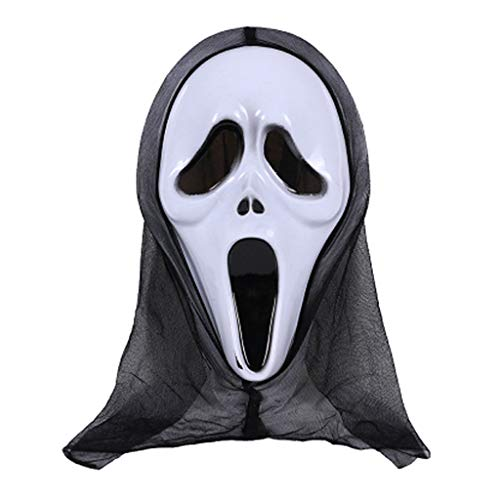 Shaoge Halloween Mask Skull Ghost Scary Terror Scream Masquerade Party Cosplay Costume ()
