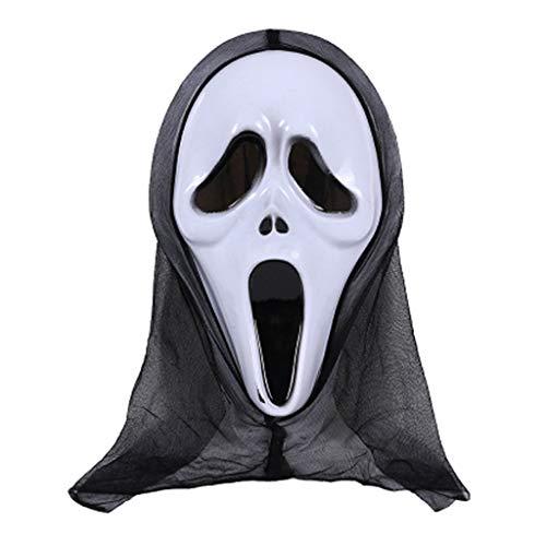 Shaoge - Máscara de Halloween, diseño de calavera y fantasma: Amazon.es: Juguetes y juegos