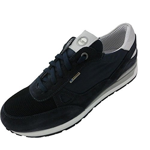 EXTON Zapatos de Hombre 2832 Azul 993 Combinación 9 - Zapatillas Ciervos-Lona, Marino (M 4213 0 0156)