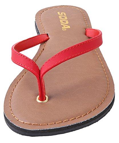 Mujer Playa Estilo Casual para Lisas Shoes de Lipstick Sandalias Soda wX6vt