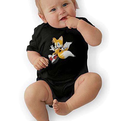 HiPiClothK Babys SONIC Hedgehog TAILS Funny Comfortable Short Sleeve Jumpsuit Outfits 6M ()