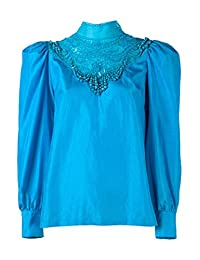 DRIES VAN NOTEN Coxy' Embellished Pure Silk Blouse