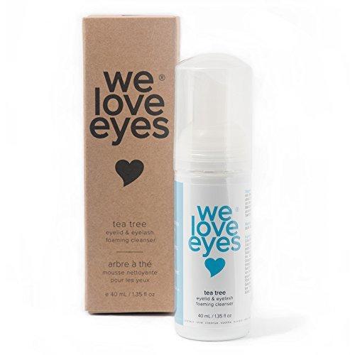 We Love Eyes: Tea Tree Eyelid Foaming Cleanser - Vegan. All natural. (Eye Tea)