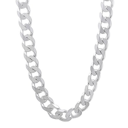 Italian 6.5mm 925 Sterling Silver Nickel-Free Beveled Cuban Curb Link Chain, 22