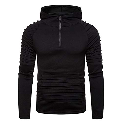 LUCAMORE Men's Autum Winter Pullover Hoodie Long Sleeve Hooded Sweatshirt Outwear Tops Blouse