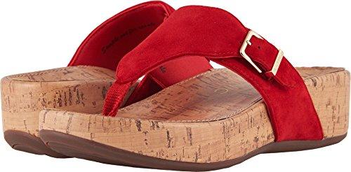 Vionic Womens Marbella Platform Sandal, Red, Size 9 by Vionic
