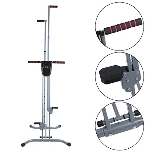 OUTAD Vertical Climber with Cast Iron Frame and Digital Display | Full Total Body Workout Fitness Folding Cardio Climber Exercise Machine for Home Gym, As Seen on TV by OUTAD (Image #2)