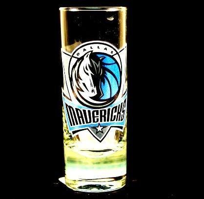 Dallas Mavericks NBA Licensed Glass Cordial Logo Hype Shot Glass (2 Oz.) Team Logo