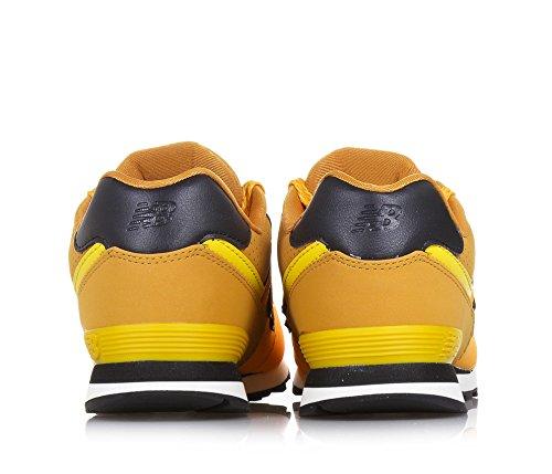 en lacets l'arrière garçon 574 synthétique garçons cuir NEW school à jaune à tissu Grand Basket pièce en BALANCE wf48qpg