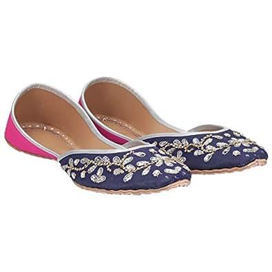 Rose Creations Pink & Blue Slip On For Women