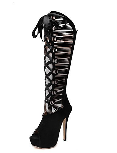 LFNLYX Zapatos de mujer-Tacón Stiletto-Tacones / Zapatos y Bolsos a Juego / Comfort / Innovador / Botas a la Moda-Sandalias / Tacones / Botas / Black