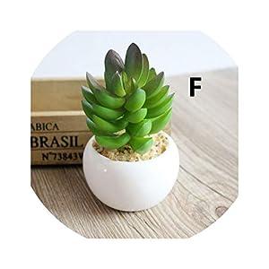 be-my-guest A Set Artificial Green Plant Artificial miniascape/Bonsai/Potted Home Balcony Decoration Decorative Flower Succulent Plants,F 21