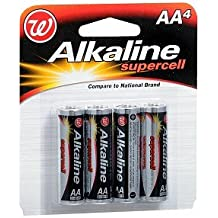 Walgreens Alkaline Supercell Batteries AA, 4 Each