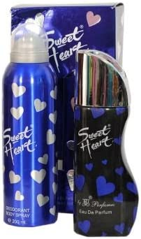 JBJ Exotic Unisex Sweet Heart Combo of Perfume and Deo, 100 and150ml (Blue, 81406554)