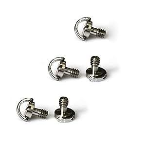 """SmallRig® Cierre Rápido Liberación Rápida tornillo 1/4""""-20de fijación con D forma anillo para cámara, trípode, monopié, bandeja rápida (lote de 6)–1611"""