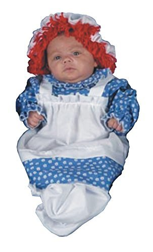 (UHC Baby's Raggedy Ann Doll Bunting Infant Fancy Drees Halloween Costume,)
