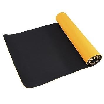 Yibei Ecológico TPE Yoga Mat, Antideslizante 6 mm de Grosor al Aire Libre y Gimnasio Fitness Ejercicio Pilates Pad con elástico algodón Negro – Correa ...