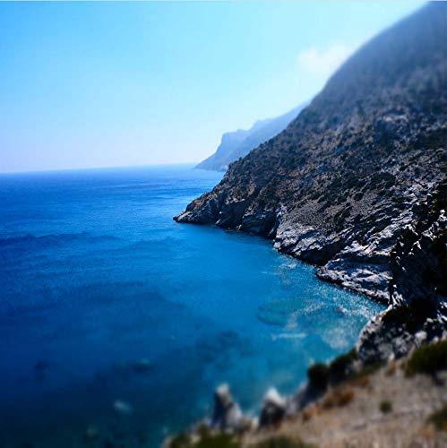 Weaeo カスタム3D印刷写真の壁紙ギリシャの海のビーチの風景の壁画リビングルームのテレビの背景の壁の装飾の自然の風景-450X300Cm B07H8HTPGL