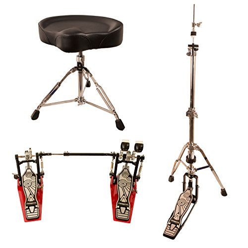 ChromaCast Pro Series Double Braced Hi Hat Stand with Chain Drive Double Pedal & Throne