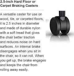Amazon.com: Herman Miller C7 2.5 Inch Hard Floor/Carpet Caster Set For Aeron  Chair (Set Of 5): Kitchen U0026 Dining