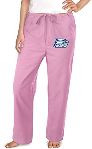 (Ladies Georgia Southern Pants GSU Scrubs - Bottoms for Women XL Pink)