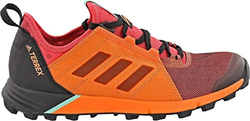 adidas outdoor Womens Terrex Agravic Speed Shoe Tactile Pink, Black, Easy Orange