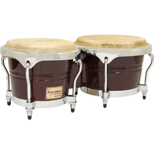 Tycoon Percussion 7 Inch & 8 1/2 Inch Concerto Series Bongos - Mahogany Finish TB-800 C M