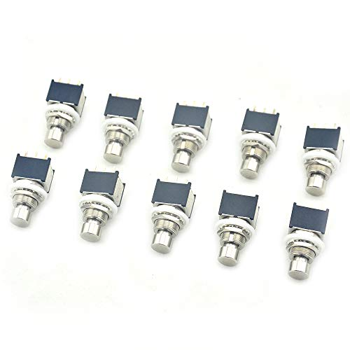10 X 3PDT 9PIN Momentary ON-(ON) Foot Switch For DIY Guitar Pedal Kit by LANDTONE