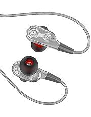 'or2018in Ear cuffie, auricolari in-ear auricolari cuffie dinamiche metallo isches Stereo Earphones con tappi per le orecchie e microfono per iPhone, Android, Smartphone e lettori MP3