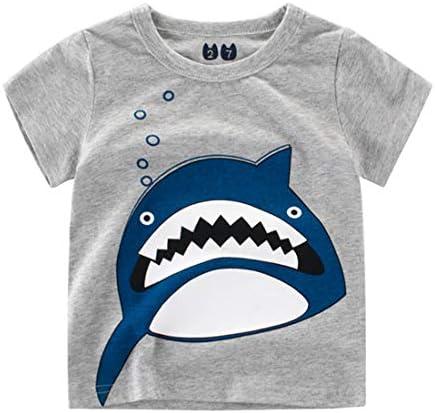 子供服 半袖 tシャツ 男の子 インナー トップス サメ柄 夏服