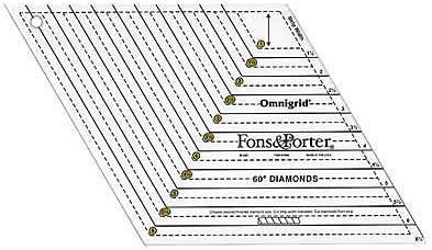 Fons /& Porter 60 Degree Diamonds Ruler