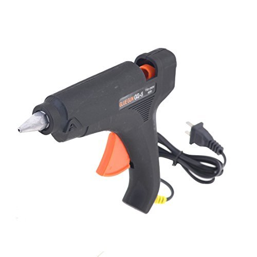 US Plug AC110-240V 40W Hot Melt trigger Mini Glue Gun Nero Arancione