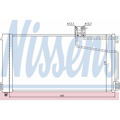 Klimaanlage Nissens 94544 Kondensator