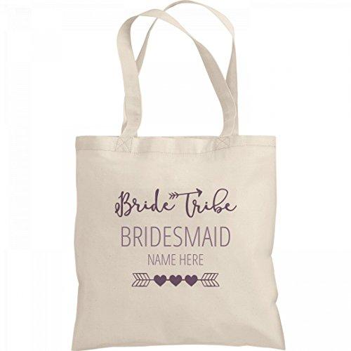 Cute Custom Name Bridesmaid Bride Tribe Tote Bag: Liberty Bargain Tote Bag