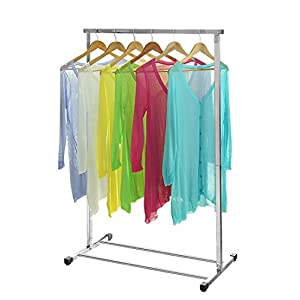 Stainless Steel Garment Rack Clothes Drying Folding Rack Clothing Storage