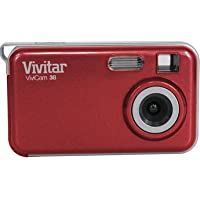 Vivitar 38STR vstyle 3.1 MP Compact System Camera with 1.5-Inch LCD Body (Red)