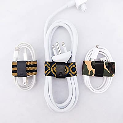 CableBand Multipurpose Cord Organizer / Cable Organizer / Cable Manager / Cord Wrap Apple MacBook AC Power Cords, Micro-USB Charging Cables, Apple Lighting Cable Power Adapter iPhone iPad USB HDMI USB-C