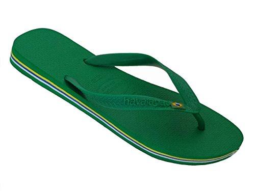 Sandálias 41 Ue 42 Erwaschen 43 Unissex verde Escuro Brasil Escuro Dez Separador Praia Br Verde 42 Havaianas XwPgqfP
