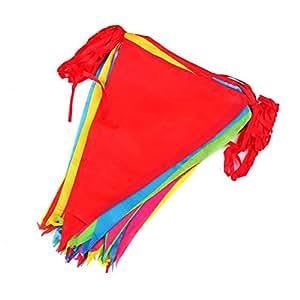 50 Metros Coloridas Bandera Banderín de Tela,75 Grande Guirnalda Banderines Decorativos Para Casa Campo Boda Cumpleaños Gran Apertura de Fiesta y Picnic Patio