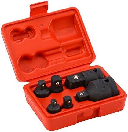6 Stück Impact Socket Adapter Steckschlüsseleinsätze,Steckschlüssel-Adapter Kraft-Adapter Reduzieradapter 1/4 1/2 3/8 3/4 Ratsche Breaker Drive