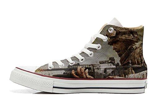 Converse All Star Personnalisé et Imprimés Hi chaussures coutume, Sneaker Unisex (produit Italien artisanal) un soldat