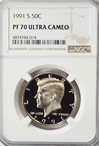 1991 S Kennedy Proof Half Dollar AZJ1 50c NGC PF70 Ultra Cameo