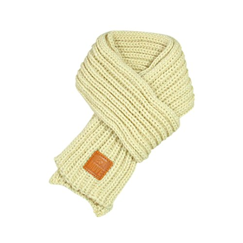 Rumas® Fashion Baby Kid Boys Girls Lovely Autumn Winter Warm Solid Scarf Knitted Scarves (Beige)