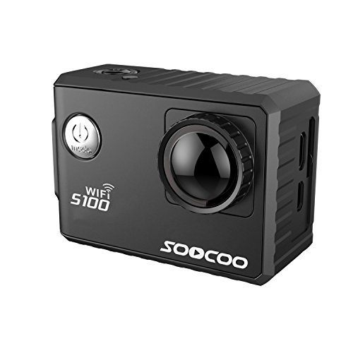 MDTEK@ SOOCOO S100 Action Camera 4K WiFi Sports DV Full HD 1080P Gyro 30m Waterproof Diving Mini Camcorder 2.0 inch Sport Cam NTK96660(GPS Model include)(Black) Action Cameras SOOCOO